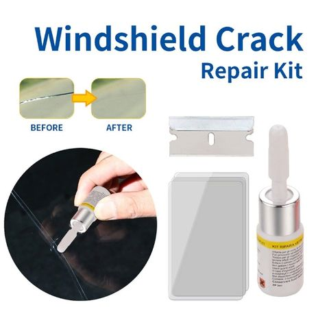 Полимер для ремонта трещин лобового стекла, окон, стекла 3мл (R5White)
