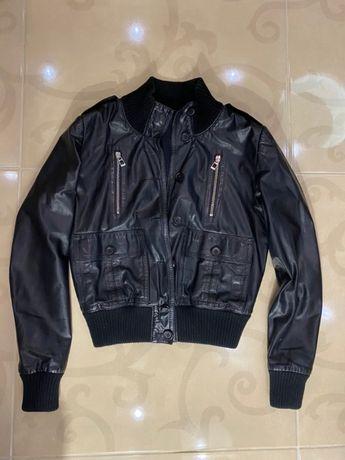 Крутая брендовая кожаная куртка REPLAY Italy ,куртка кожа , косуха