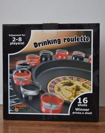 Alkoholowa gra imprezowa ruletka + 16 kieliszków