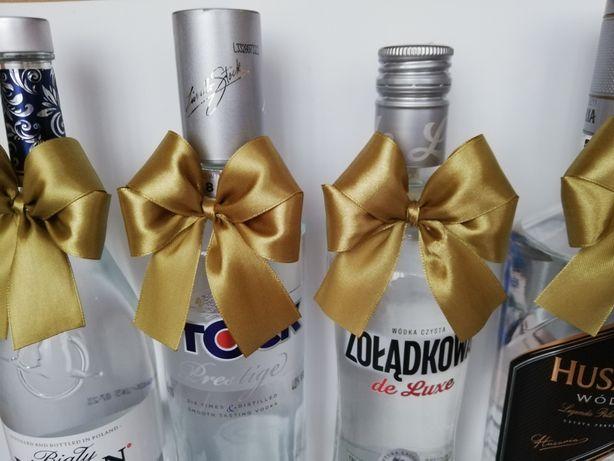 Kokardki na alkohol kolor złoty