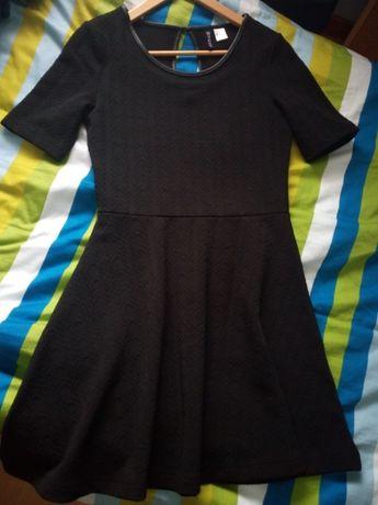 Vestido preto, manga curta H&M