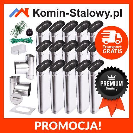 Wkład Kominowy Owalny do Komina Fi100x210/15m/0,8mm Kwaso-żarooodporny