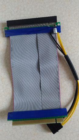Райзер шлейф PCI-E 16x -> 16x с доппитанием MOLEX