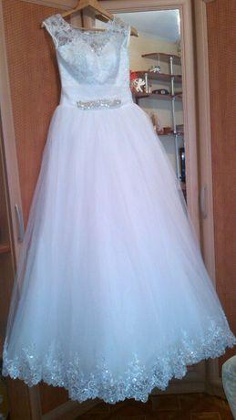 Платье свадебное, платье белое, платье пышное