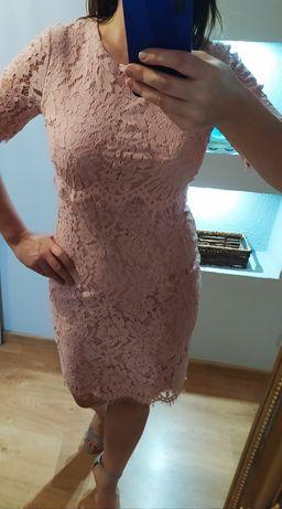 Piękna sukienka róż pudrowy sexy jak Nowa