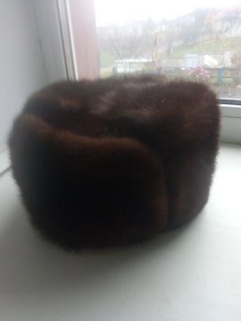 мужская шапка размер 60 черная норка натуральная в хорошем состоянии б