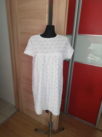 Biała ażurowa sukienka XL