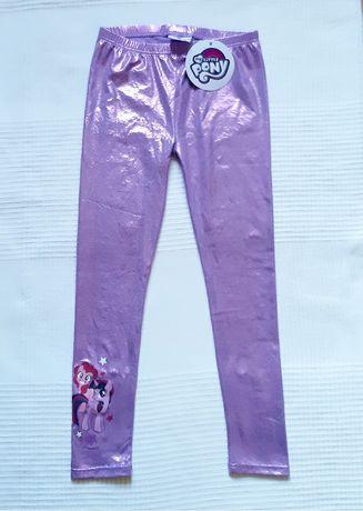 Leginsy, spodnie dziewczęce My Little Pony  r.128. Nowe