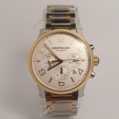 Новые Montblanc TimeWalker Chronograph 107320 золото\сталь