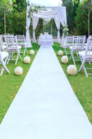 Biały dywan do kościoła Ślub 16m×2m