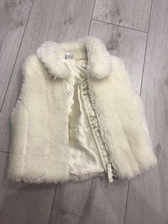 Жилетка мехова мех Zara Next куртка