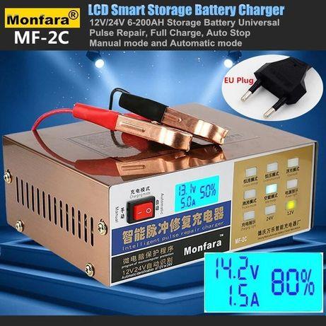 Carregador bateria auto moto pesados 12V / 24V automático 350W