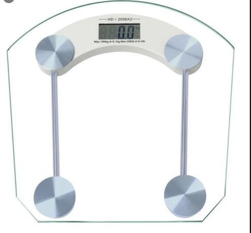 Электронные напольные весы до 180 кг квадратные стеклянные