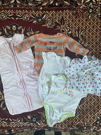 Отдам бесплатно одежда пакет вещей для ребенка 6 мес