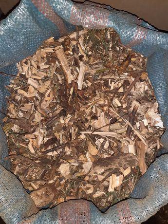 Zrębki z rębaka z drzew liściastych i iglastych