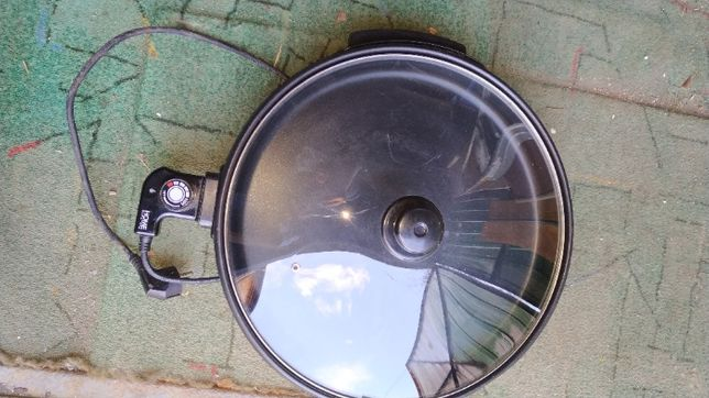 Patelnia elektryczna 40cm z termostatem szklana pokrywa 1400W
