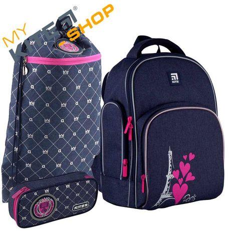 Школьный набор 3в1  КАЙТ KITE Рюкзак сумка пенал для девочки
