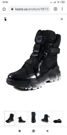 Зимние ботинки Prima d'Arte со шнуровкой тканевые дутики