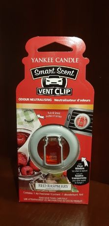 Zapach do samochodu Yankee Candle - Red Raspberry, Vent Clip, 4ml