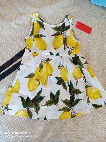 Новое летнее платье на 2-3 года