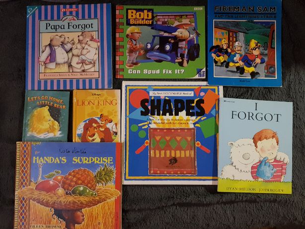 Książki po angielsku (Bob, Fireman Sam,SHAPES, Lion King i inne)
