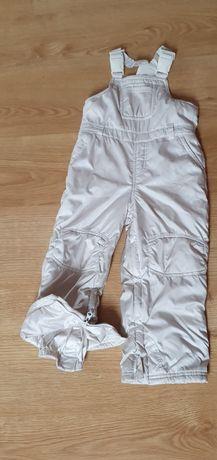 Spodnie zimowe narciarskie ocieplane r.104/116