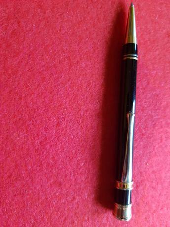 Długopis z czarnej masy+złote dodatki, cudo.