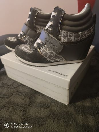 Sneakersy na koturnie Calvin Klein