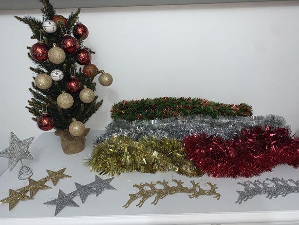 Conjunto decoraçao de natal + árvore