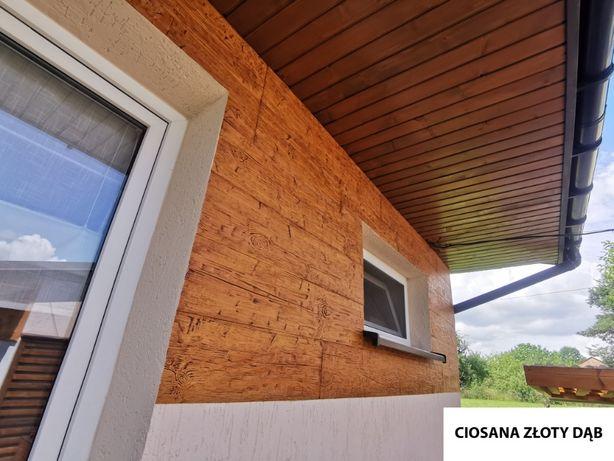 DESKA Elewacyjna Ciosana POMALOWANA Imitacja Drewna na Zestaw 1m2