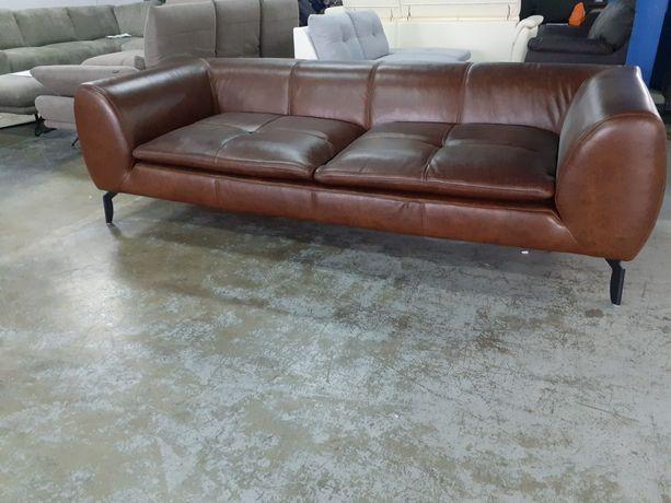Nowa Sofa 3 osobowa, 235cm, SKÓRA NATURALNA,  WYPRZEDAŻ