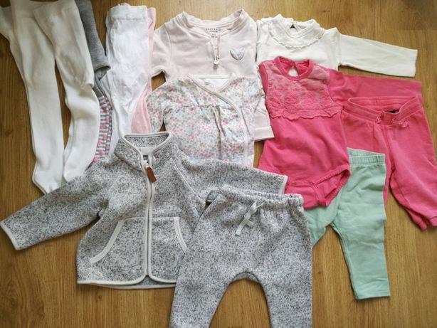 Ubranka HM Smyk inne r. 68 rajstopy, spodnie, bluza, body