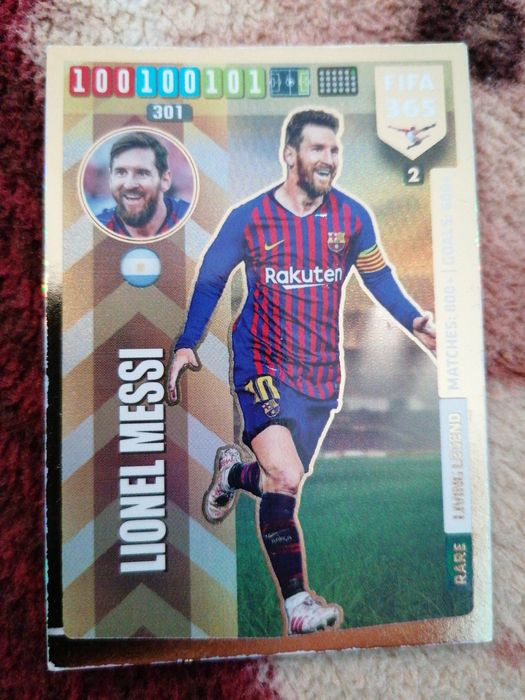 Karta rare FIFA panini Lionel Messi Bystrzyca Kłodzka - image 1
