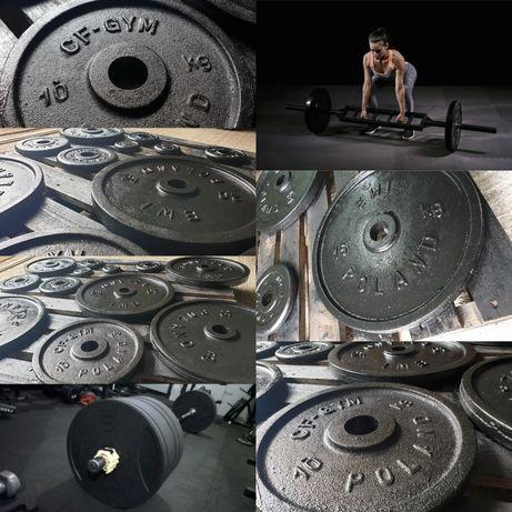 Obciążenia Żeliwne Talerze Krążki CF 1,25kg 2,5kg 5kg 10kg 15kg 20kg