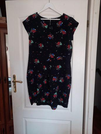 Sukienka F&F 40/42 czarna kwiatki