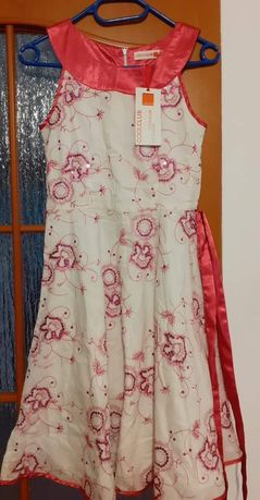 Sukienka białoróżowa r. 152 CoolClub z metką