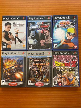 PS2- 6 Jogos p/ Playstation 2 (Dragon Ball, Naruto, JakX, Ratchet.. )