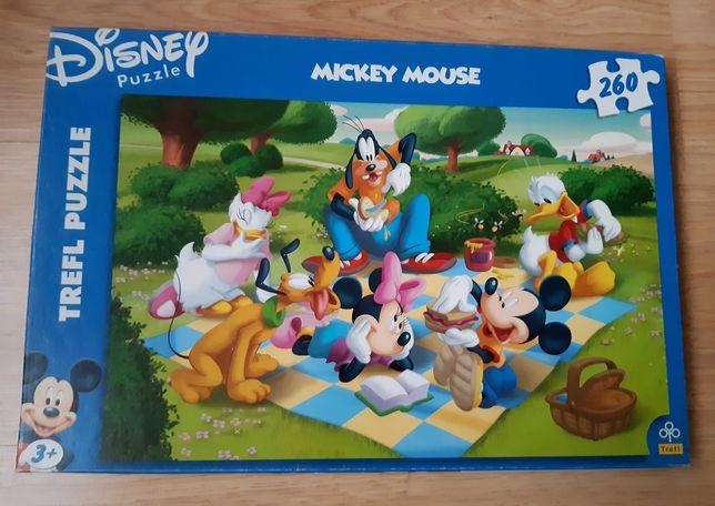 Trefl puzzle 260 Myszka Miki + małe figurki piesków gratis