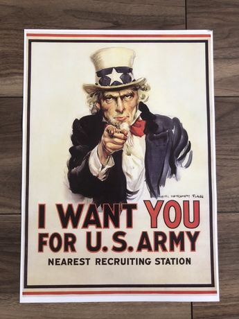 Plakat poster I want You for U. S. Army James Montgomery