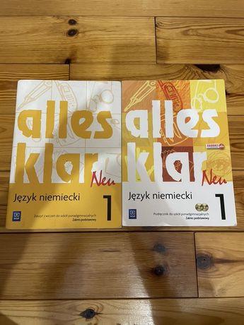 Alles klar neu 1 jezyk niemiecki zeszyt ćwiczeń i podręcznik klasa 1