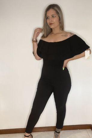 Macacão calça em preto