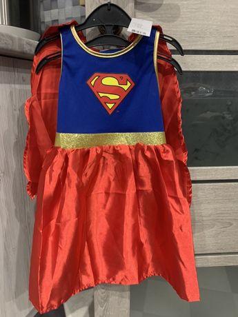Новое!Платье Supergirl 2в1 (Супергёл) 98-104 (2-4 года)!