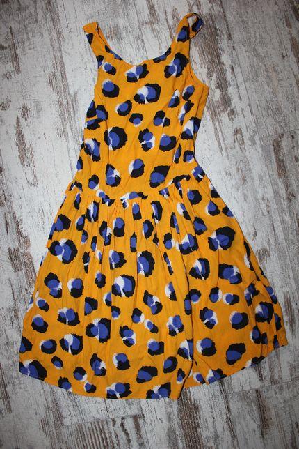 Платье сарафан жёлтое XS_S Topshop