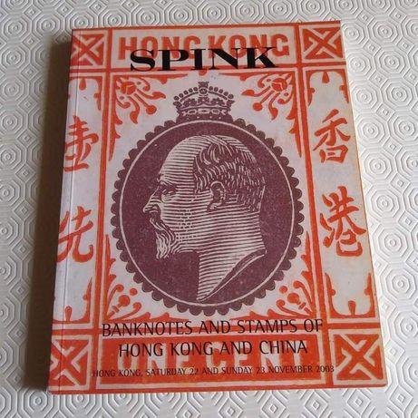 30821#CATALOGO de (Leilões) Notas e Selos postais - HONK KONG /China