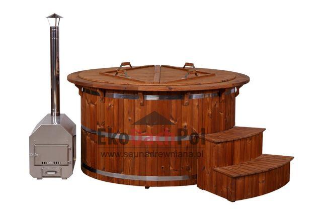 Balia z Thermowood Kąpielowa Bania Ruska Gorąca Beczka Wodna Hot Tub