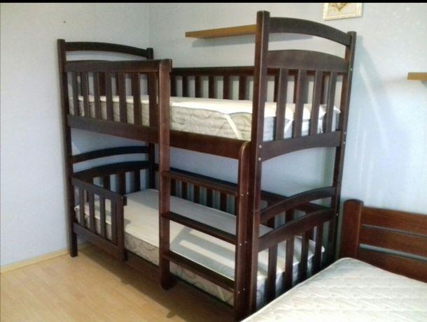 Купити двоярусне, двоповерхове ліжечко, двухъярусная кровать из дерева