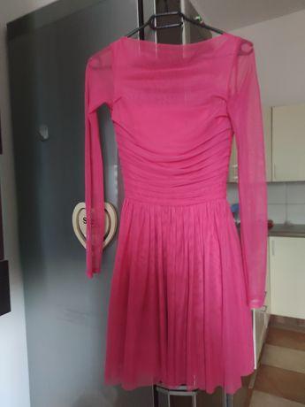 Sukienka tiul xs siateczka róż