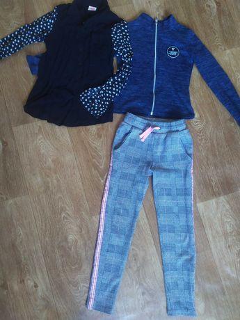 Набор одежды для девочки 6-8лет.Штаны,рубашка,кофта