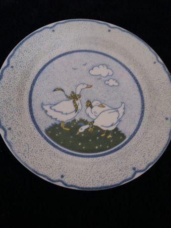 Ceramiczny talerzyk z gąskami
