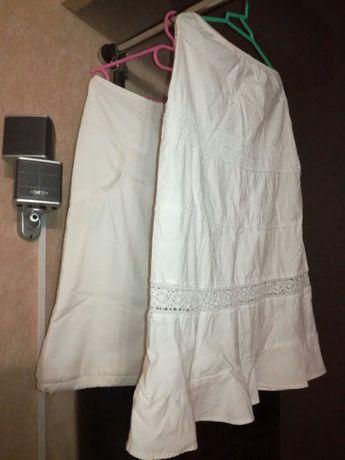 Две юбки белые р36 и р42-44